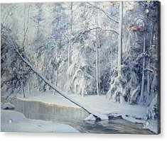 The Leaning Tree Acrylic Print by Walter Launt Palmer