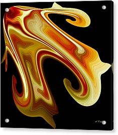 Acrylic Print featuring the digital art The Left Corner by rd Erickson