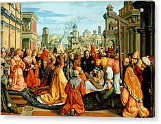The Legend Of The Holy Cross Acrylic Print by Barthel Beham