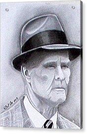 The Legend Tom Landry Acrylic Print by William Cox
