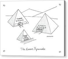 The Lesser Pyramids Acrylic Print by Mick Stevens
