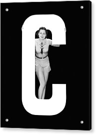 The Letter c And A Woman Acrylic Print by Underwood Archives