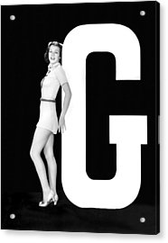 The Letter g And A Woman Acrylic Print