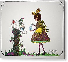 The Letter Acrylic Print by Mary Kay De Jesus