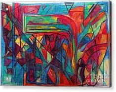 The Letter Raish Acrylic Print by David Baruch Wolk
