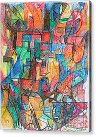 The Letter Tav 2 Acrylic Print by David Baruch Wolk