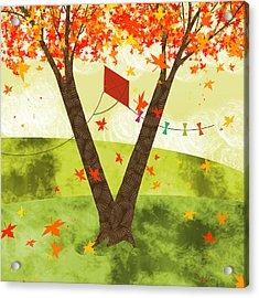 The Letter V Acrylic Print by Valerie Drake Lesiak