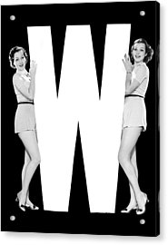 The Letter w And Two Women Acrylic Print