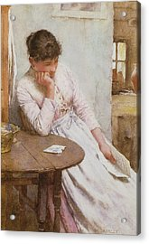 The Letter  Acrylic Print by Walter Langley