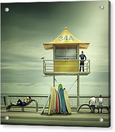 The Life Guard Acrylic Print by Adrian Donoghue