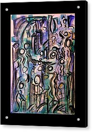 The Life Of People Acrylic Print by Mimulux patricia no No