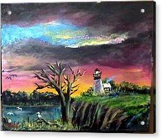 The Light House-3 Acrylic Print by M bhatt