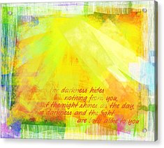 Acrylic Print featuring the photograph The Light by Jocelyn Friis