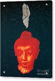 Acrylic Print featuring the painting The Light Of Face_ Sold by Fei A