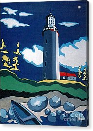 The Lighthhouse Acrylic Print by Joyce Gebauer