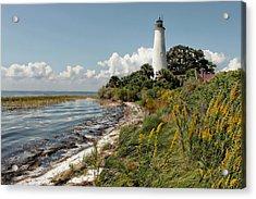 The Lighthouse At St. Marks Acrylic Print by Lynn Jordan