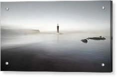 The Lighthouse Of Nowhere Acrylic Print by Santiago Pascual Buye