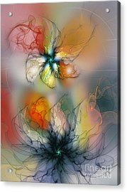The Lightness Of Being-abstract Art Acrylic Print by Karin Kuhlmann