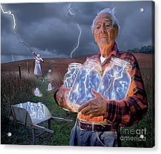 The Lightning Catchers Acrylic Print by Bryan Allen