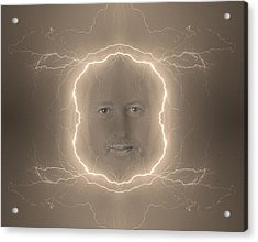 The Lightning Man Sepia Acrylic Print by James BO  Insogna