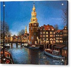 The Lights Of Amsterdam Acrylic Print