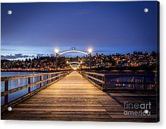 The Lights Of White Rock Beach - By Sabine Edrissi Acrylic Print