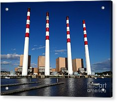 Acrylic Print featuring the photograph The Lilco Towers by Ed Weidman