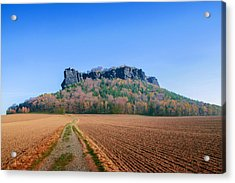 The Lilienstein On An Autumn Morning Acrylic Print