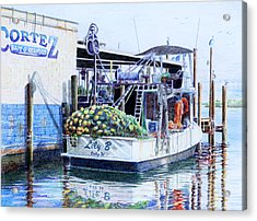 Acrylic Print featuring the painting The Lily B by Roger Rockefeller