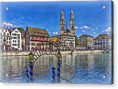 The Limmat City Acrylic Print by Hanny Heim