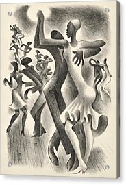 The Lindy Hop Acrylic Print by  Miguel Covarrubias