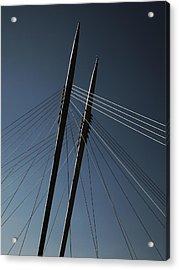 The Lines Of The Bridge 3 Acrylic Print