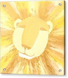 The Lion A Acrylic Print by Sandra Yegiazaryan