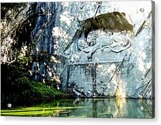 The Lion Monument In Lucerne Switzerland Acrylic Print