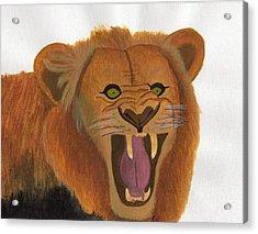 The Lion's Roar Acrylic Print by Bav Patel