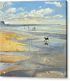 The Little Acrobat Oil On Canvas Acrylic Print by Timothy Easton
