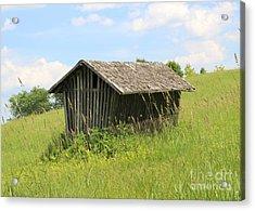 The Little Barn  Acrylic Print by Cheryl Aguiar