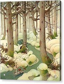 The Little Boat 01 Acrylic Print by Kestutis Kasparavicius