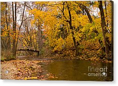 Acrylic Print featuring the photograph The Little Bridge Over Valley Creek by Rima Biswas