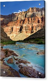 The Little Colorado  Acrylic Print by Ellen Heaverlo
