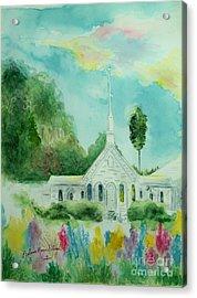 The Little Country Church Acrylic Print by Melanie Palmer
