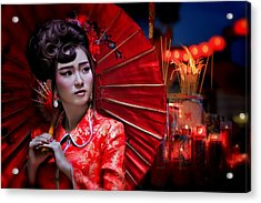 The Little Girl From China Acrylic Print