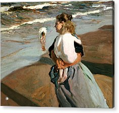 The Little Granddaughter Acrylic Print by Joaquin Sorolla y Bastida