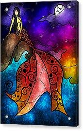 The Little Mermaid Acrylic Print by Mandie Manzano