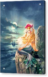 The Little Mermaid Acrylic Print by Zorina Baldescu