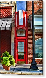 The Little Popcorn Shop In Wheaton Acrylic Print by Christopher Arndt