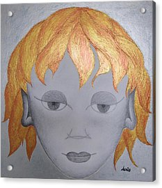 The Little Prince Acrylic Print by Marianna Mills