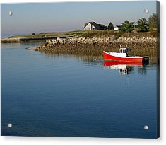 The Little Red Boat Acrylic Print