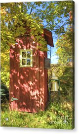 The Little Red House Acrylic Print