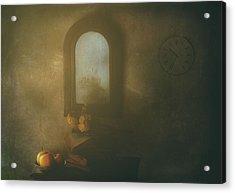 The Living Room Acrylic Print by Delphine Devos